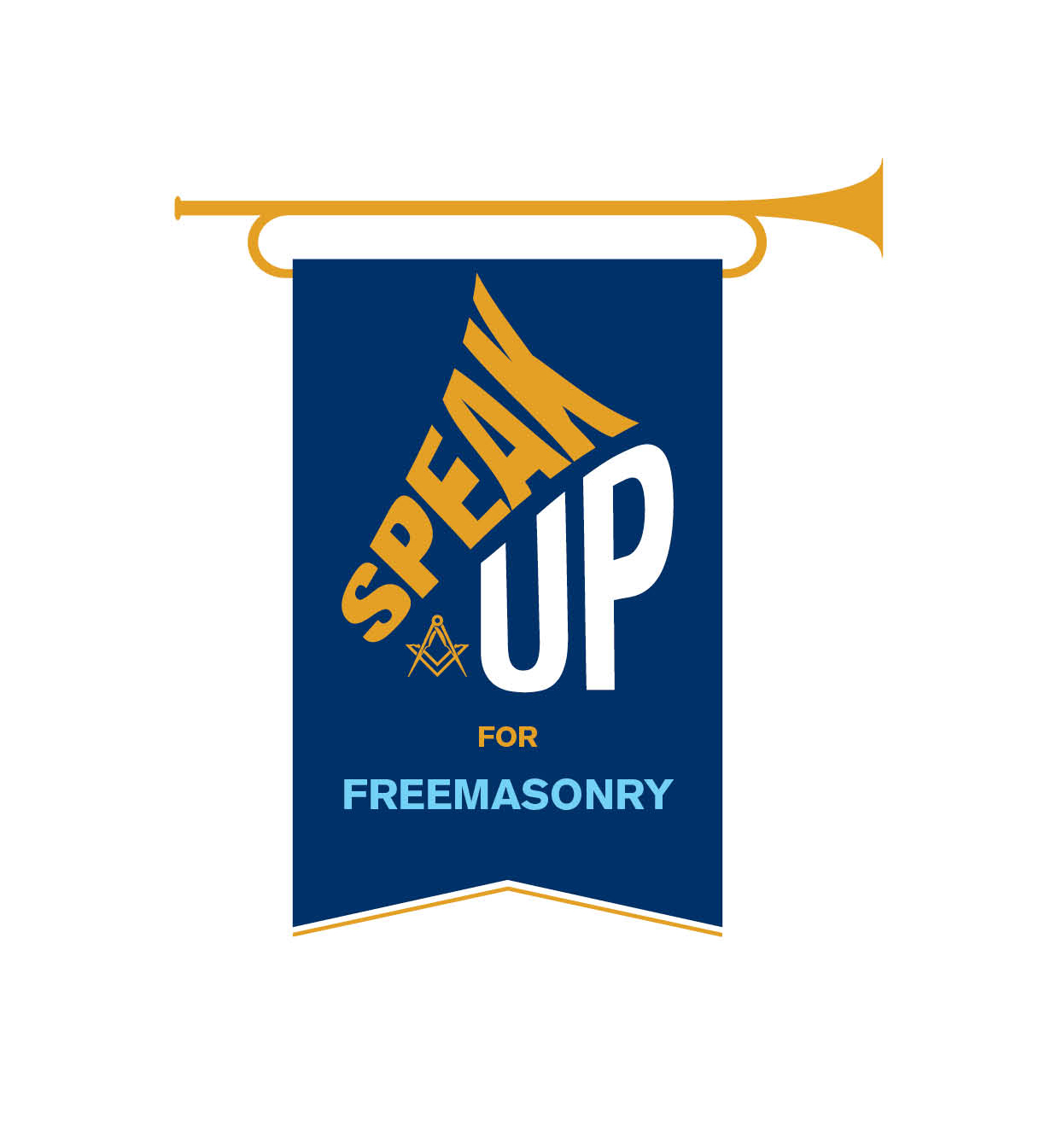 Speak up Master logo - Dark blue