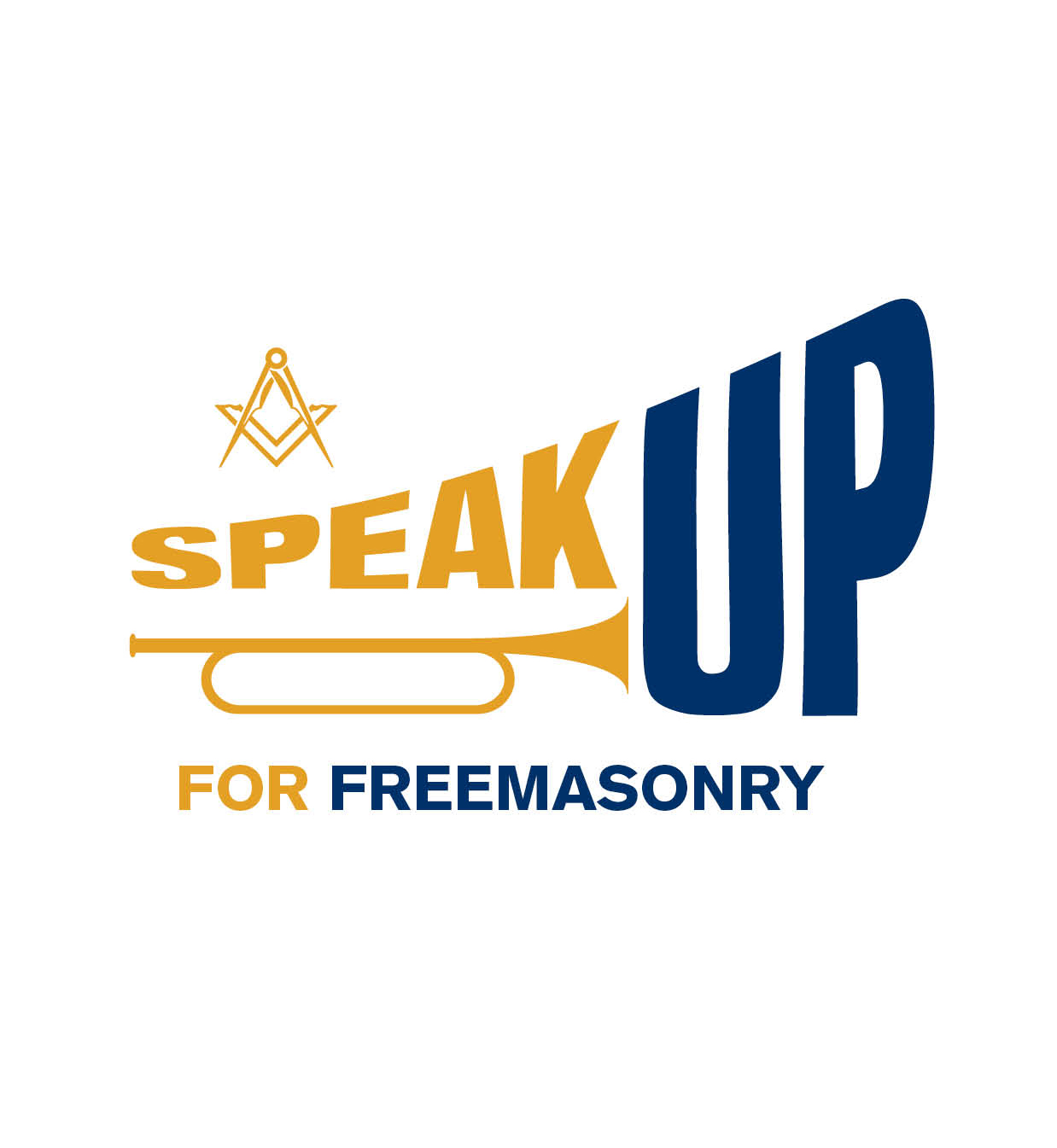 Speak up Trumpet logo - White background